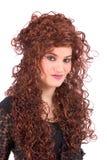 Adolescente magnífico con el pelo rizado largo Imagen de archivo