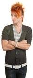 Adolescente maleducato con le braccia piegate Fotografie Stock