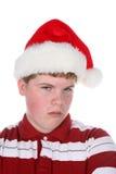Adolescente malhumorado en sombrero del stanta Fotos de archivo libres de regalías