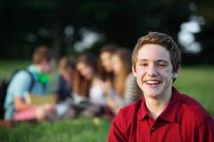 Adolescente masculino de risa Imagen de archivo libre de regalías