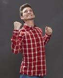 Adolescente masculino motivado que expresa la decepción violenta Imágenes de archivo libres de regalías