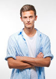 Adolescente masculino novo considerável Fotografia de Stock Royalty Free