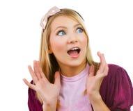 Adolescente mignonne étonnée Image stock