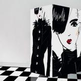 Adolescente moderno con el interior de la galería Imagen de archivo