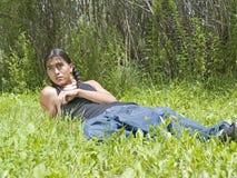 Adolescente moderno dell'nativo americano di giorno Fotografie Stock Libere da Diritti