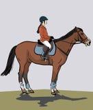 Adolescente montant un cheval Photos libres de droits