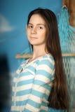 Adolescente moreno hermoso Imagen de archivo libre de regalías