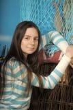 Adolescente moreno hermoso Imagen de archivo