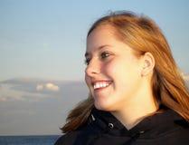 Adolescente na praia fotos de stock royalty free