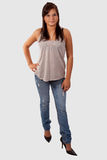 Adolescente nas calças de brim Imagens de Stock