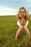 Adolescente in natura Immagini Stock