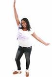 Adolescente negro hermoso joven Foto de archivo libre de regalías