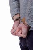 Adolescente nell'ambito dell'arresto Fotografia Stock Libera da Diritti