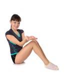 Adolescente nelle pose di ginnastica Fotografia Stock Libera da Diritti