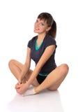 Adolescente nelle pose di ginnastica Immagini Stock Libere da Diritti