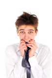 Adolescente nervoso Immagine Stock