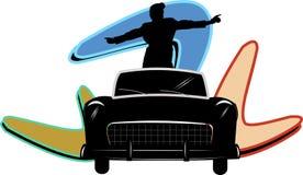 Adolescente no carro Imagem de Stock