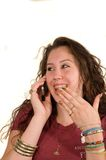 Adolescente no telefone foto de stock royalty free