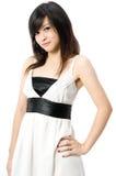 Adolescente no vestido branco Imagens de Stock Royalty Free