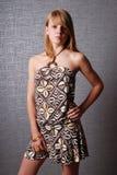 Adolescente no vestido de cocktail Fotos de Stock Royalty Free