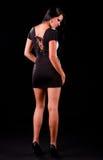 Adolescente novo no vestido preto Imagens de Stock Royalty Free