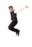 Adolescente novo que salta na alegria foto de stock royalty free