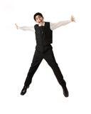 Adolescente novo que salta na alegria fotos de stock royalty free