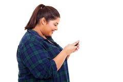 Telefono di chiacchierata della ragazza Immagine Stock Libera da Diritti