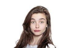Adolescente, pareciendo desconcertado Imagen de archivo
