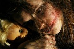 Adolescente a partire dall'oggi con i problemi psihical Fotografia Stock Libera da Diritti