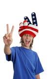 Adolescente patriótico - torpe Fotografía de archivo