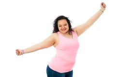Adolescente pechugón con los brazos abiertos Imagen de archivo