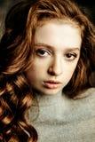 Adolescente pecoso Foto de archivo libre de regalías