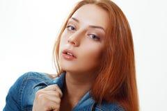 Adolescente pelirrojo hermoso Foto de archivo libre de regalías
