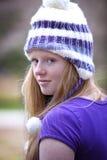 Adolescente pelirrojo lindo al aire libre Foto de archivo