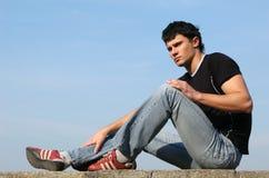 Adolescente pensativo fotografia de stock