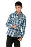 Adolescente pensativo de la manera Foto de archivo