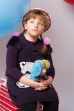Adolescente pensativo en un sombrero Fotos de archivo