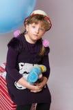 Adolescente pensativo en un sombrero Imagen de archivo