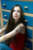 Adolescente pensive Image libre de droits