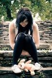 Adolescente perturbado imagem de stock