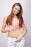 Adolescente piacevole Fotografia Stock Libera da Diritti
