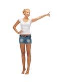Adolescente poining su finger Fotos de archivo libres de regalías