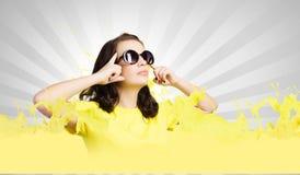 Adolescente positivo Fotografia Stock Libera da Diritti