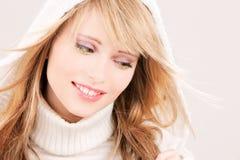 Adolescente precioso en sudadera con capucha Fotografía de archivo