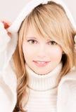 Adolescente precioso en sudadera con capucha Fotos de archivo libres de regalías