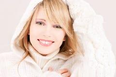 Adolescente precioso en sudadera con capucha Fotografía de archivo libre de regalías