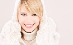 Adolescente precioso en sudadera con capucha Foto de archivo