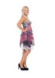 Adolescente precioso en vestido elegante Fotos de archivo libres de regalías