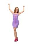 Adolescente precioso en vestido elegante Foto de archivo libre de regalías